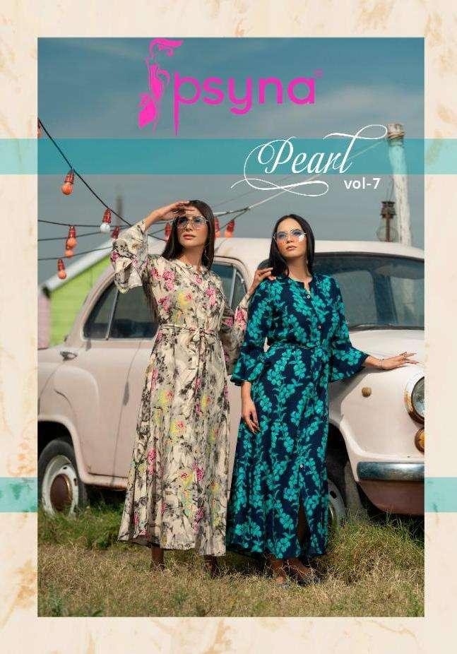 Psyna Pearl Vol 7 Rayon Designer Printed Gown