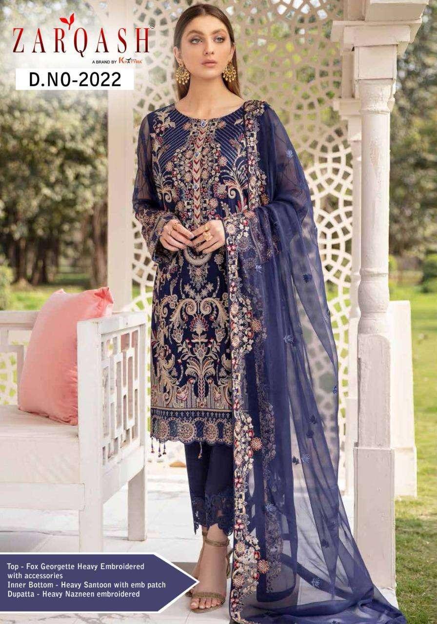 Ramsha By Zarqash Georgette Pakistani Fancy Suits