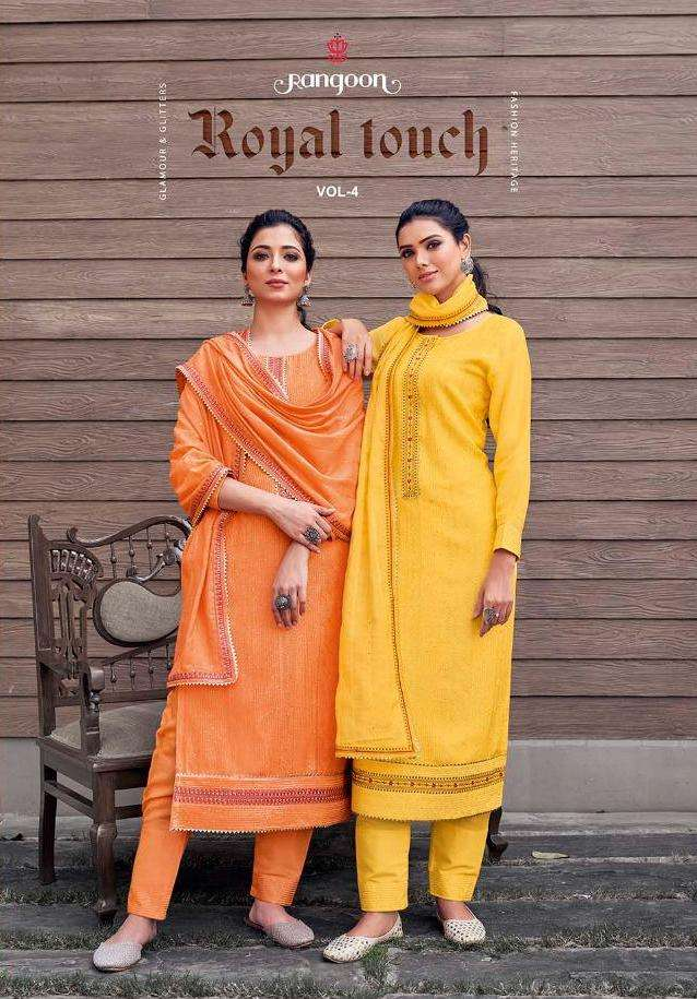 Royal Touch Vol 4 By Rangoon Readymade Fancy Suits