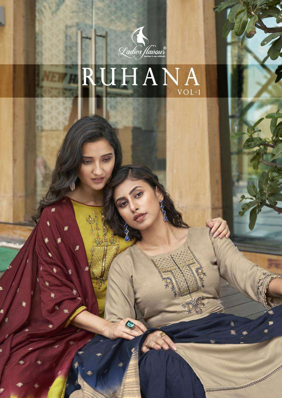 Ruhana By Ladies Flavour Readymade Party Wear Suits