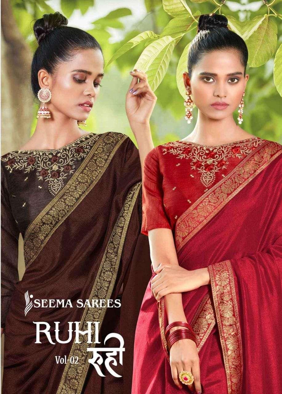 Ruhi Vol 2 By Seema Vichitra Silky Fancy Sarees