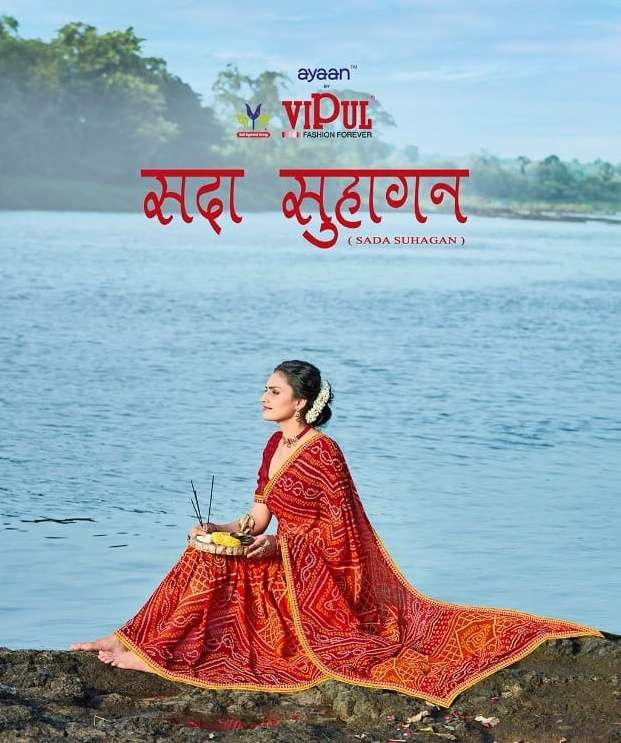 Sada Suhagan By Vipul Fashion Bandhej Saris Wholesaler