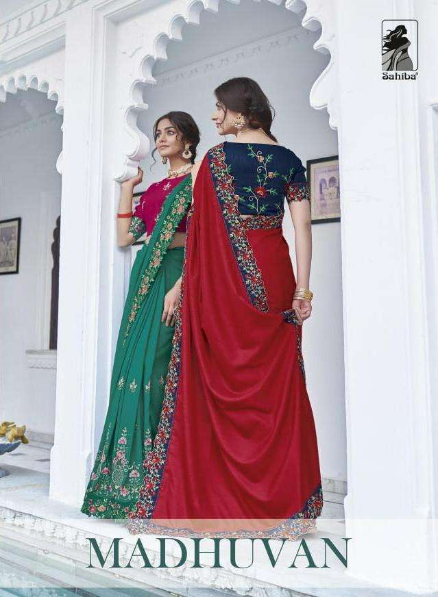 Sahiba Madhuvan Designer Fancy Saree Wholesaler