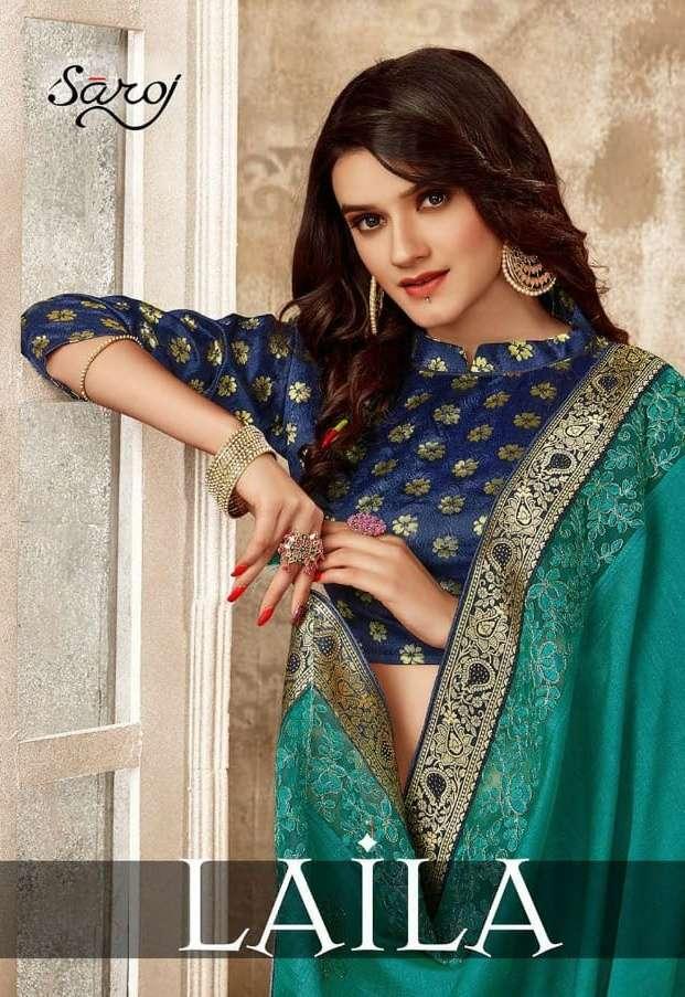 Saroj Laila Designer Silk Fancy Saree