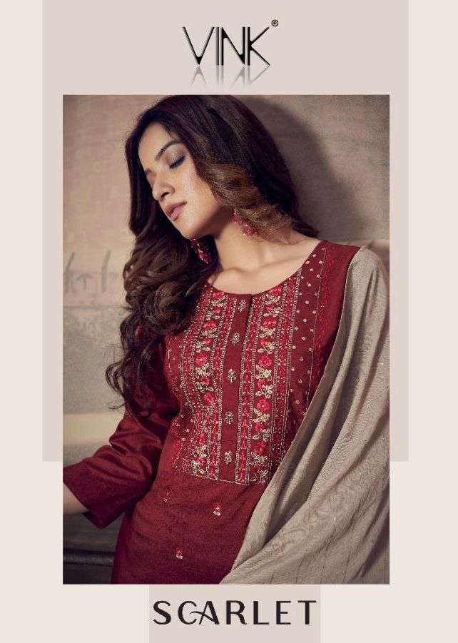 Scarlet By Vink Silk Sharara Fully Stitch Suits