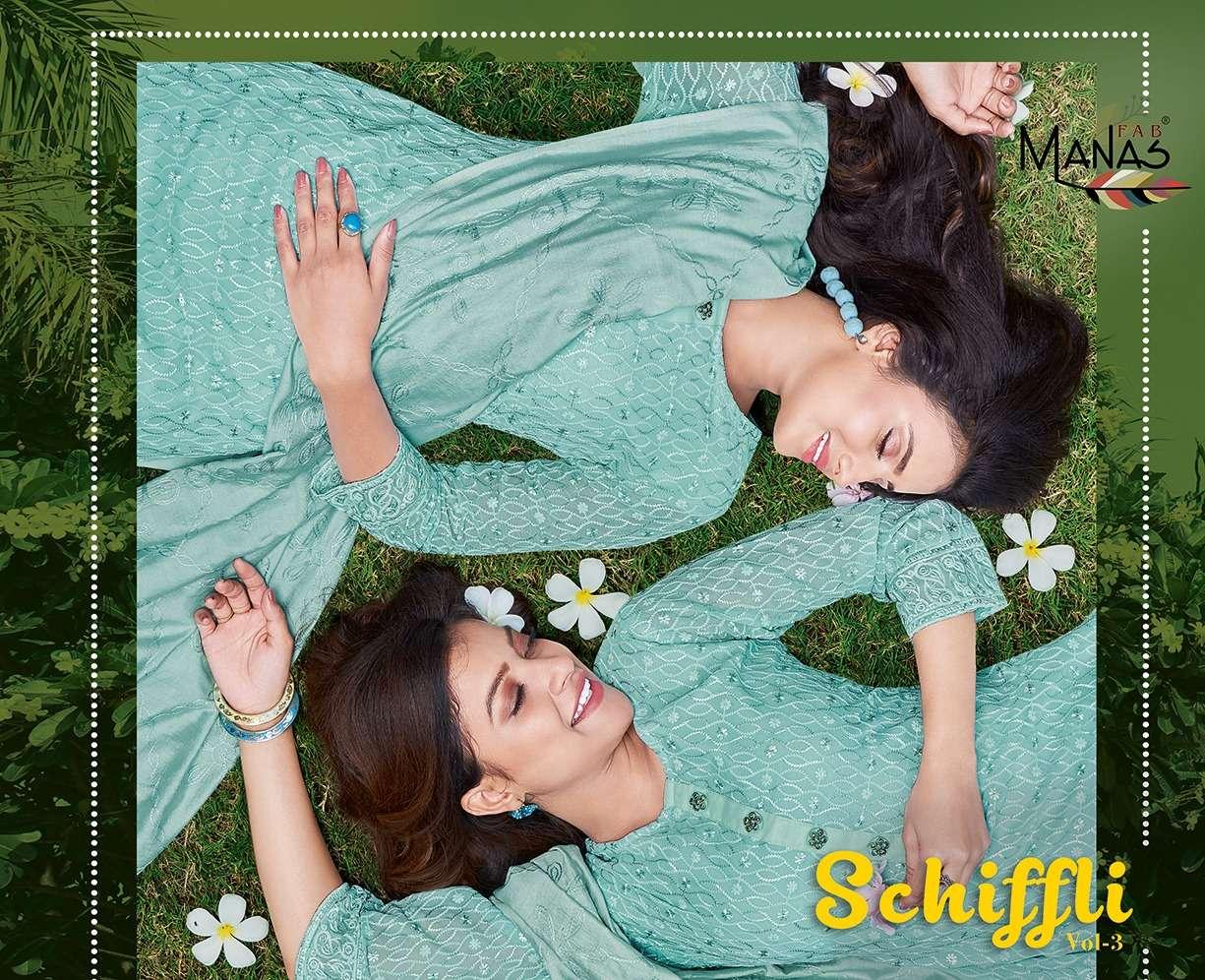 Schiffli Vol 3 By Manas Readymade Fancy Salwar Suits