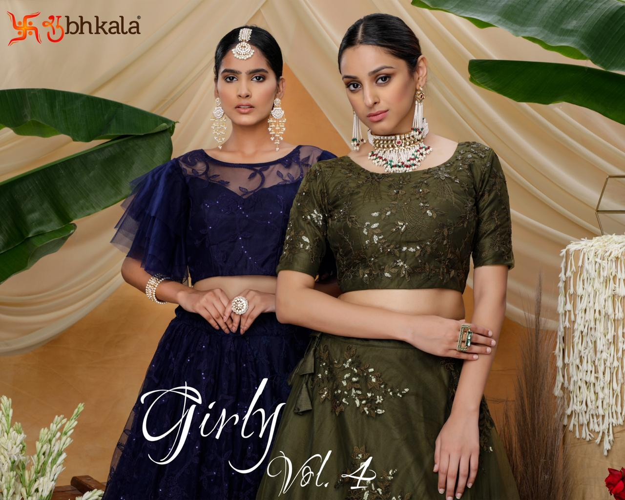 Shubhkala By Girly Vol 5 Designer Exclusive Net Lehenga Collection In India