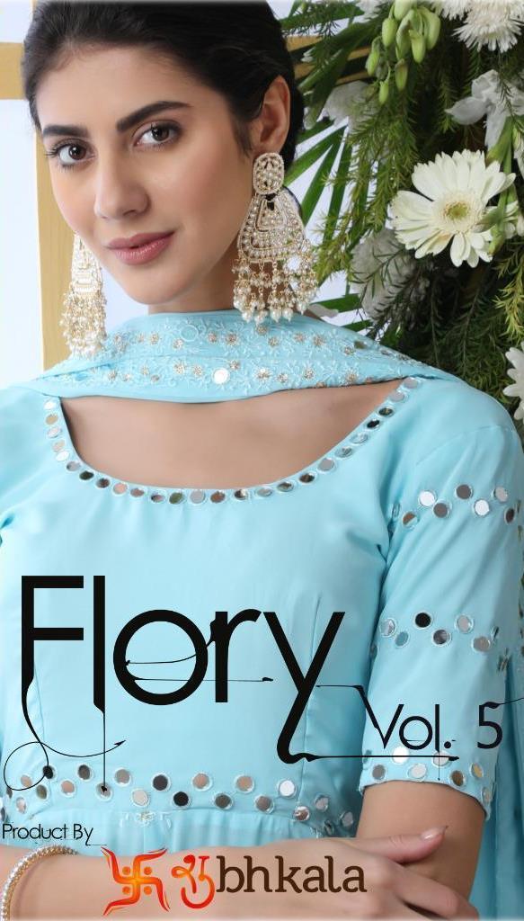 Shubhkala Flory Vol 5 4221-4225 Series Georgette Silk Party Wear Salwar Suits