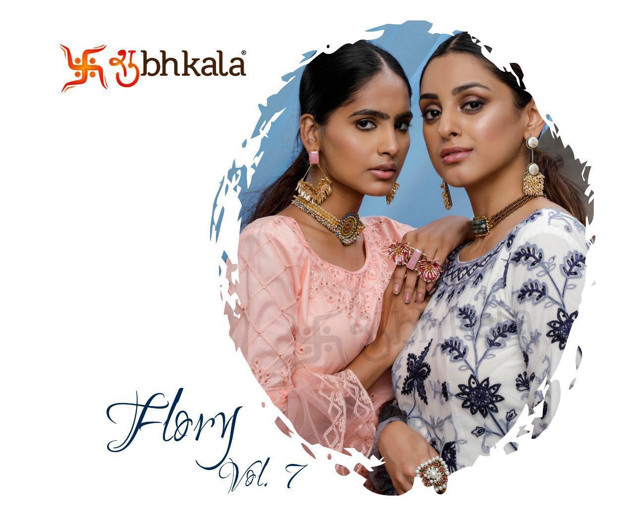 Shubhkala Flory Vol 7 Exclusive Designer Net Party Wear Anarkali Suit Supplier