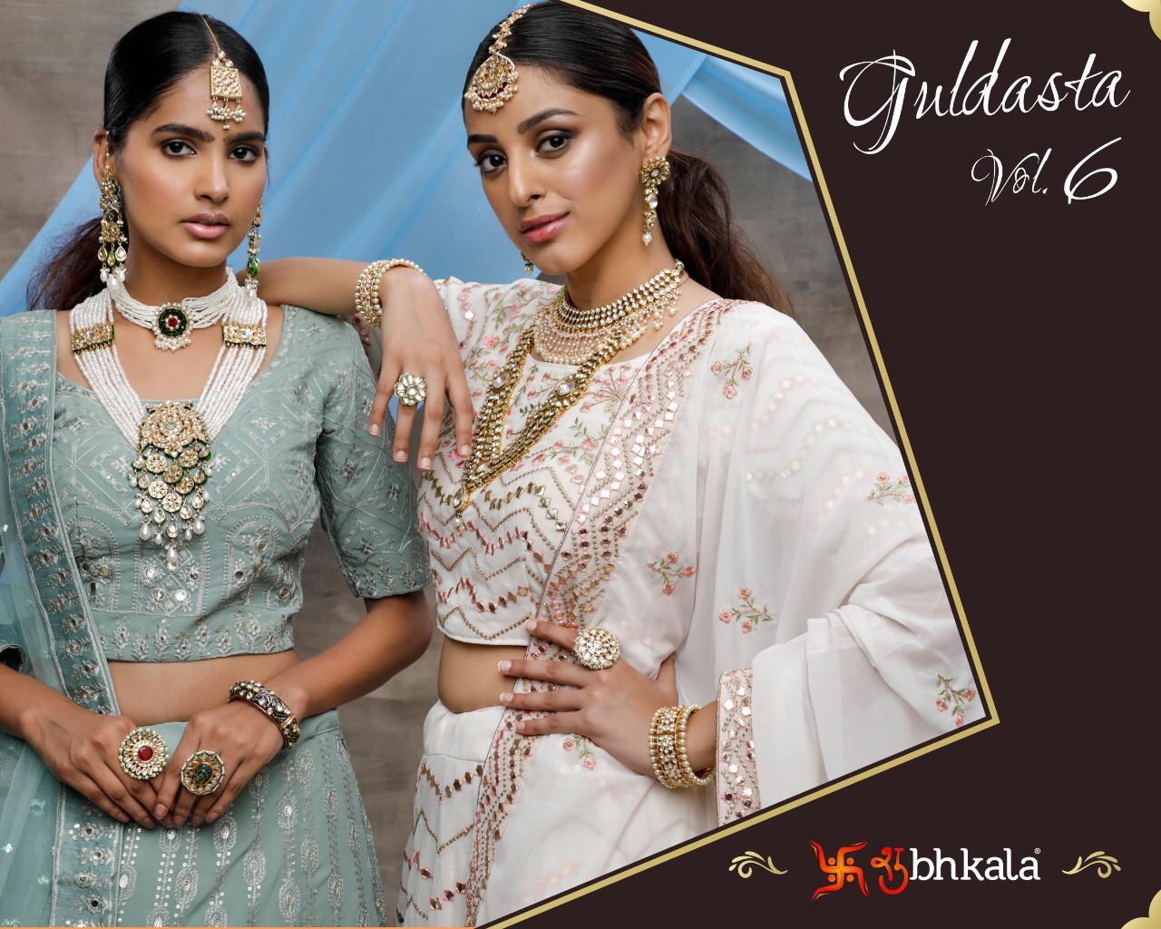 Shubhkala Guldasta Vol 6 Georgette Net Exclusive Designer Bridal Lehenga Collections