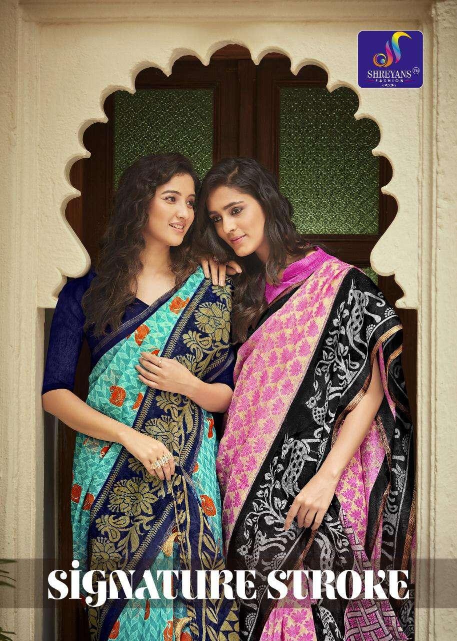 Signature Stroke By Shreyans Fashion Linen Saris Exports