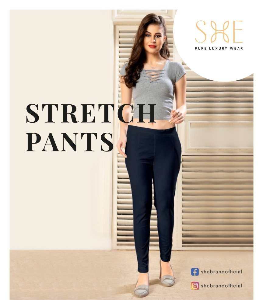 Stretch Pants By She Brand Bottom Wear Good Quality For Exports