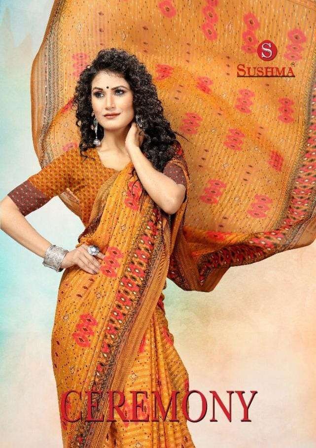 Sushma Ceremony Printed Daily Wear Sarees