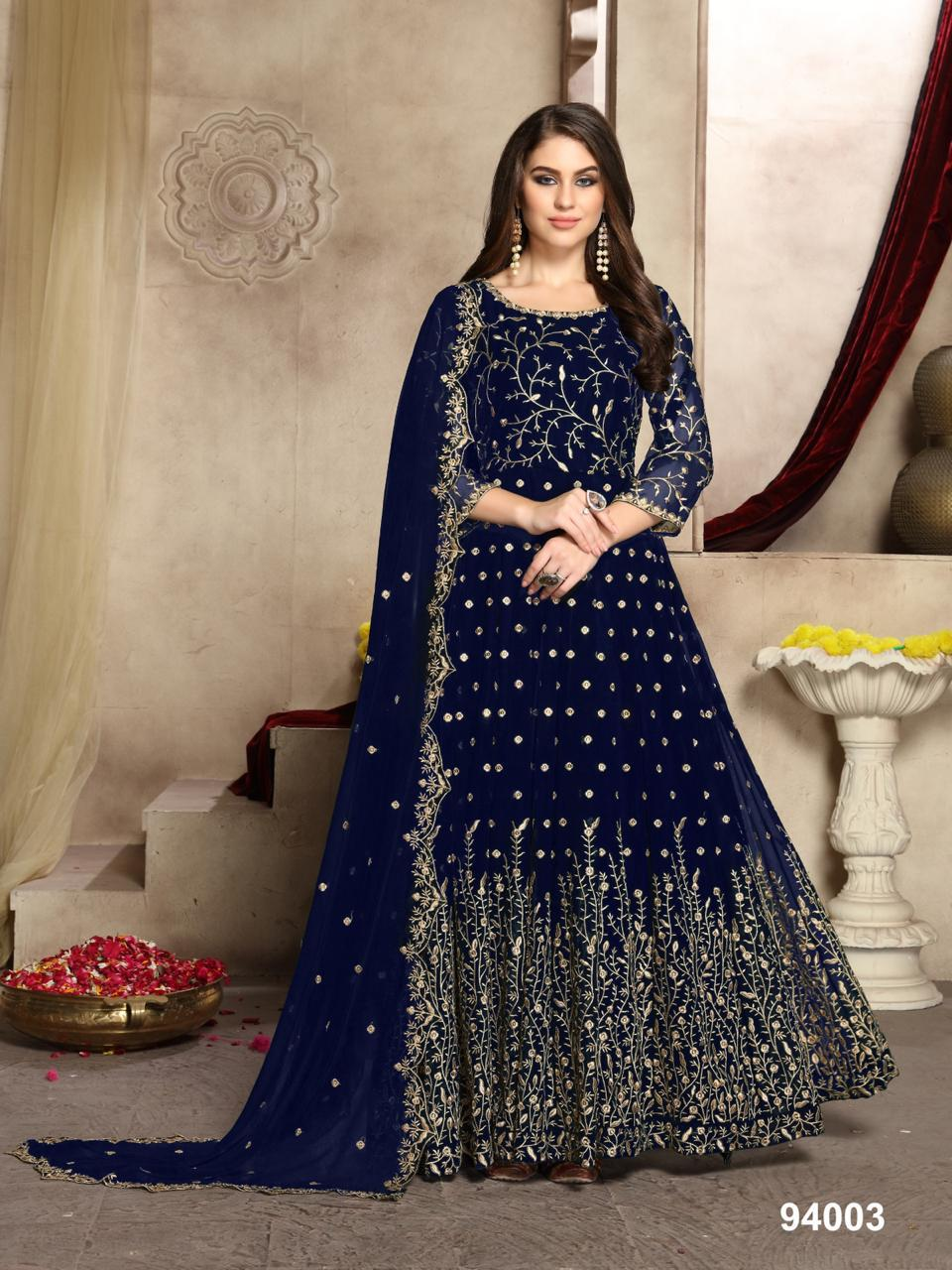 Twisha Aanaya Vol 94 Georgette Heavy Embroidery Anarkali Salwar Kameez