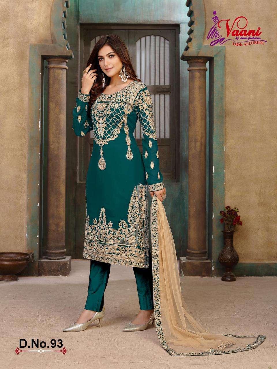 Vaani Vol 9 By Dani Fashion Georgette Salwar Suits