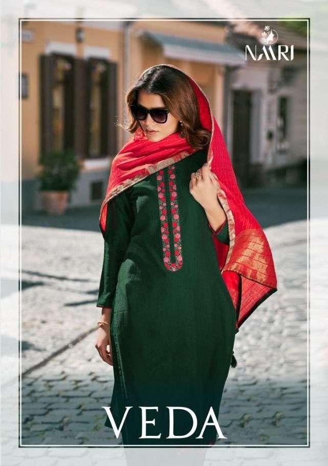 Veda By Naari Chinon Silk Designer Salwar Kameez