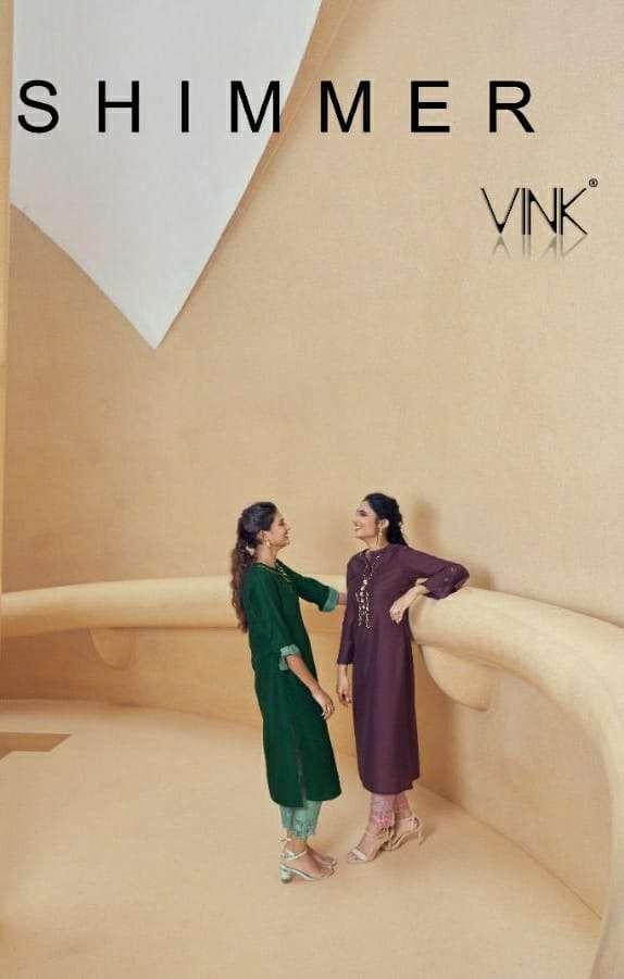 Vink Shimmer Silk Readymade Designer Suits
