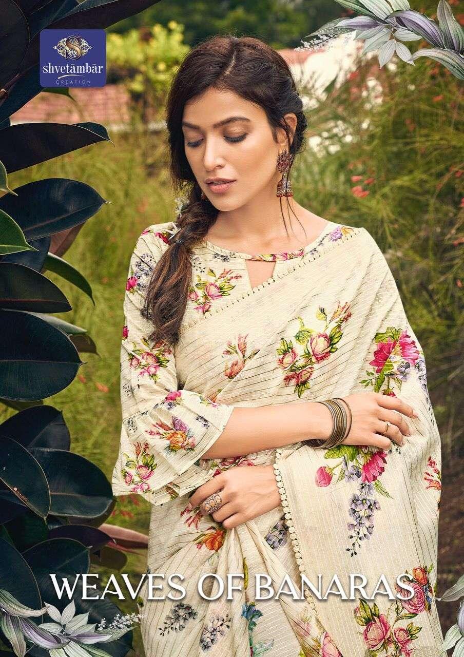 Weaves Of Banaras By Shvetambar Creation Cotton Saree Exports