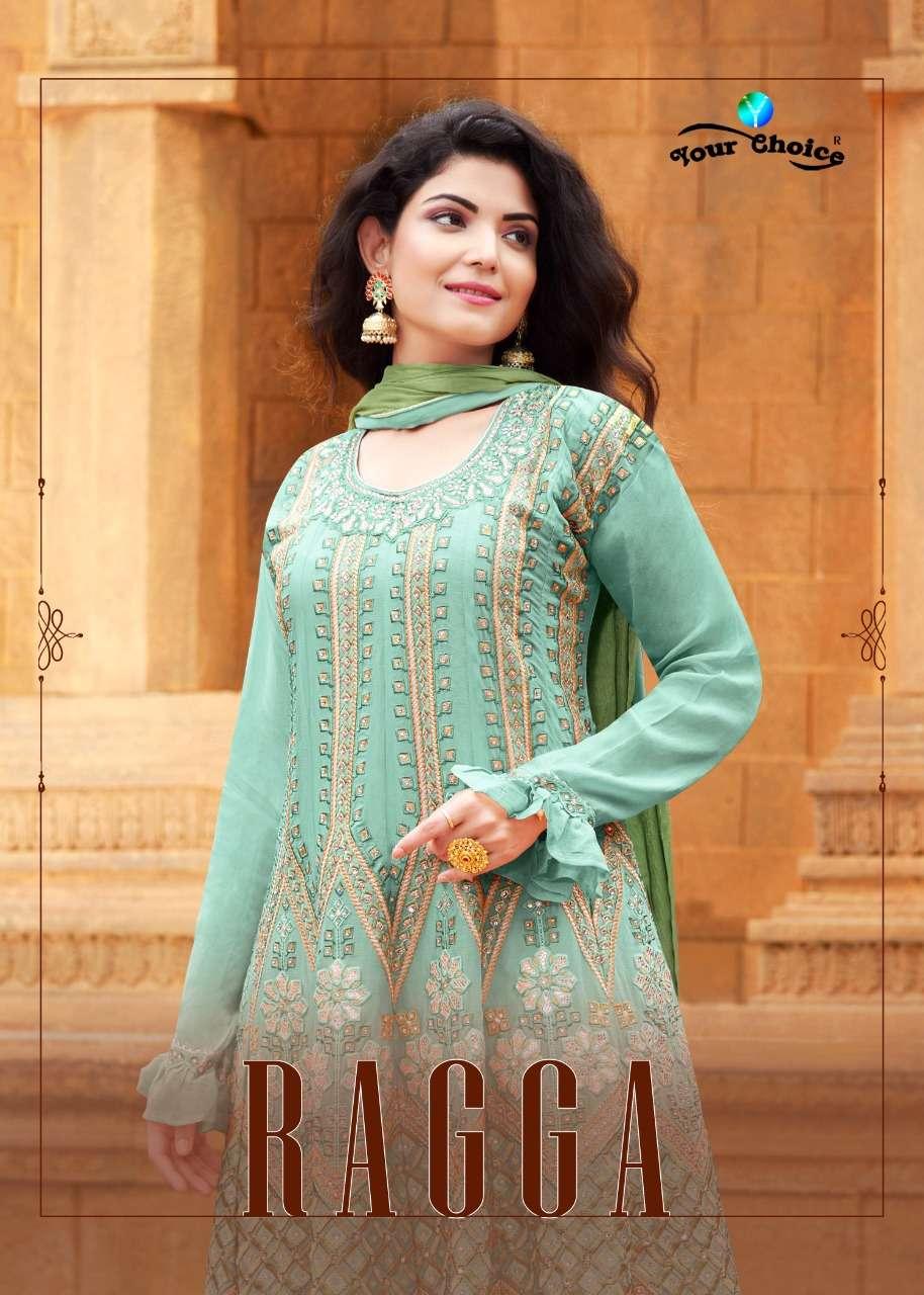 Your Choice Ragga Chinon Party Wear Peplon Salwar Kameez