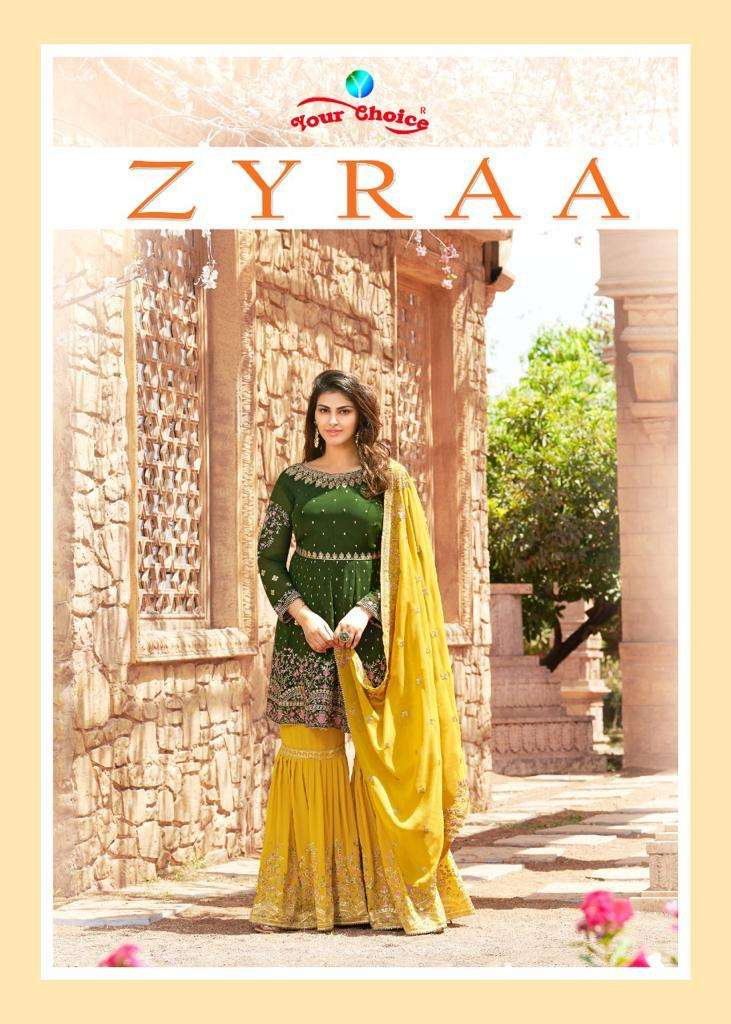 Your Choice Zyraa Georgette Exclusive Fancy Peplon Suits