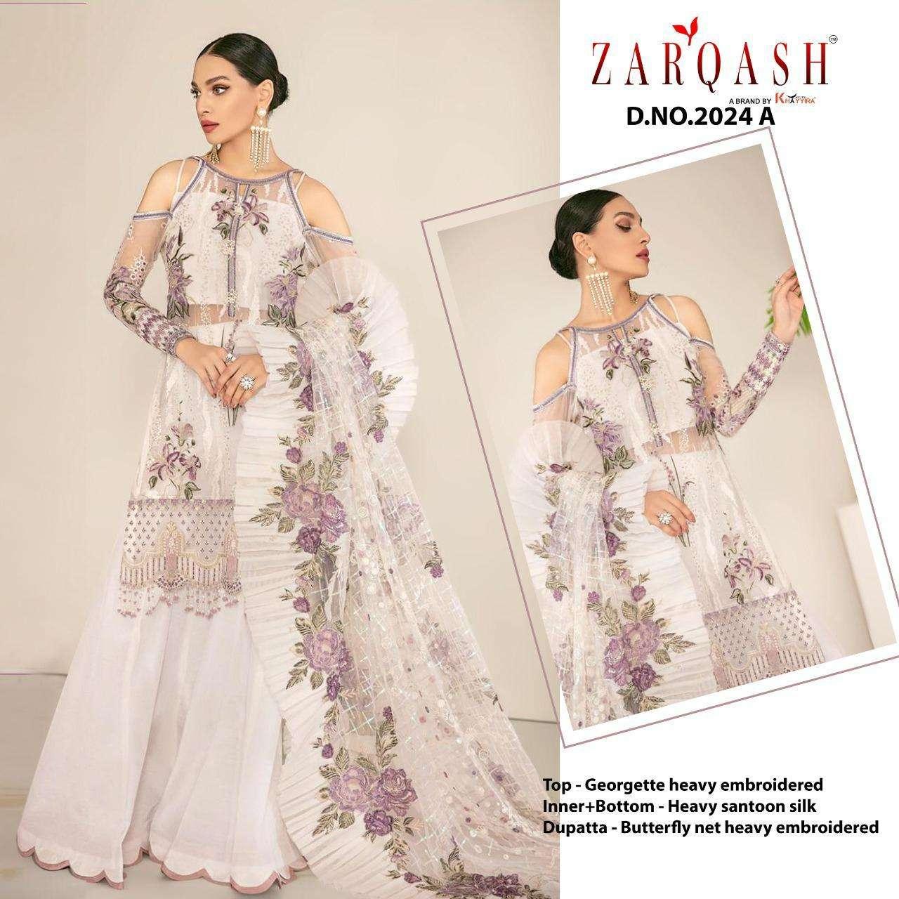 Zarqash Jihan Georgette Pakistani Fancy Suits