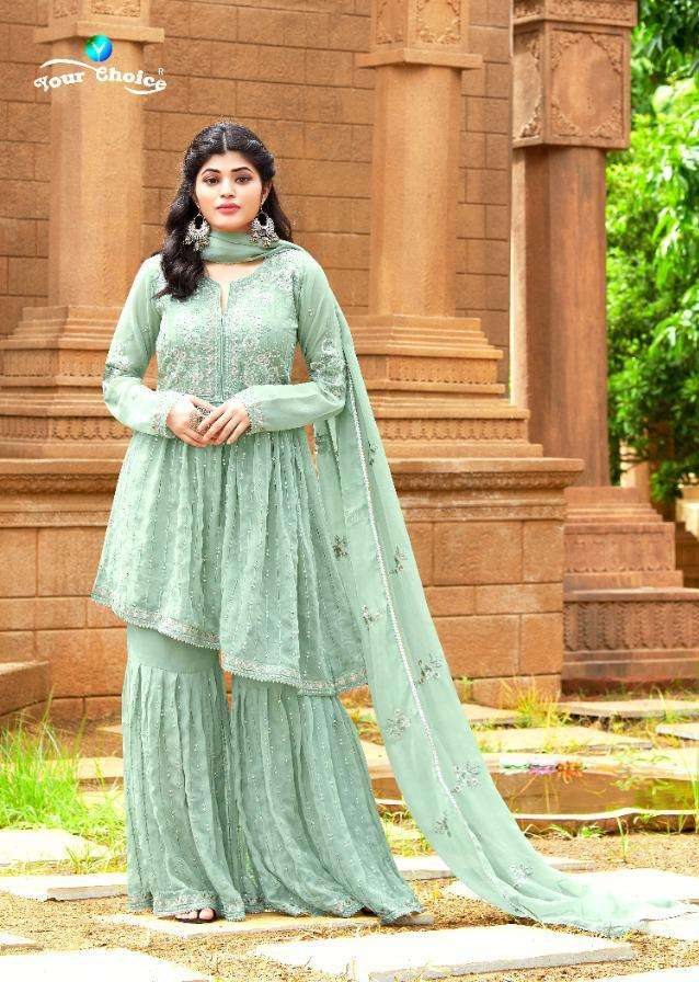 Zolla Plus By Your Choice Georgette Peplon Fancy Suits