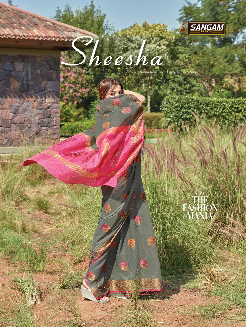 sangam prints sheesha designer cotton handloom saris wholesaler