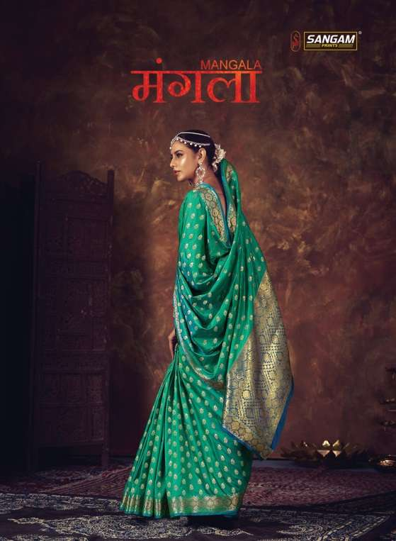 sangam prints mangala designer silk sari wholesaler