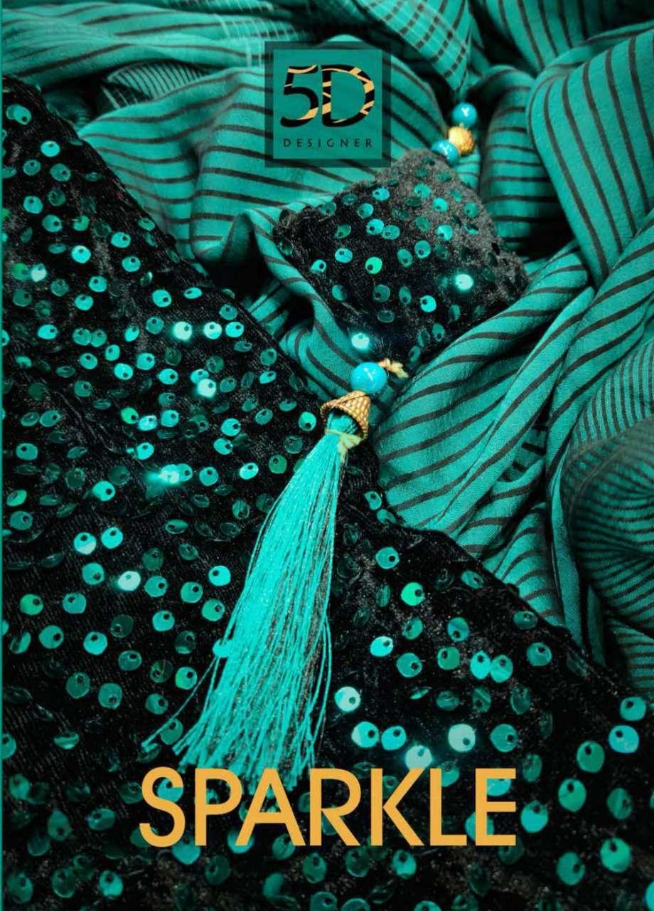 5d Designer Sparkle Fancy Designer Sarees