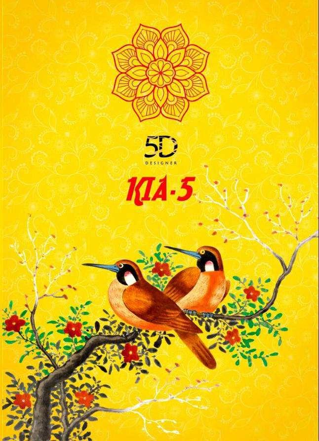 5d Kia Vol 5 Chiffon Printed Sarees