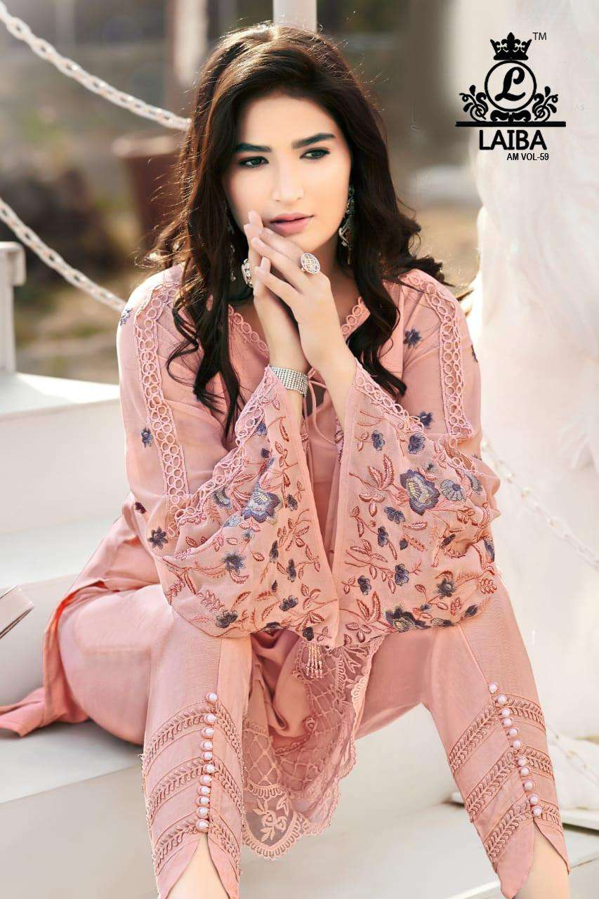 Am Vol 59 By Laiba Pakistani Readymade Kurti With Bottom