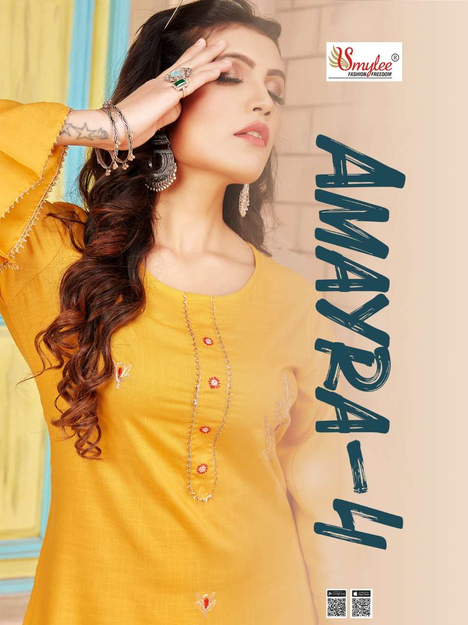 Amayra Vol 4 By Rung Rayon Slub Kurti With Matching Mask