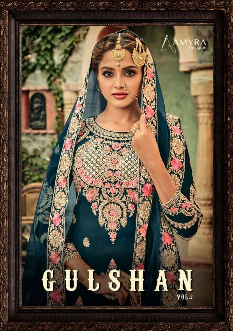 Amyra Gulshan Vol 2 Georgette Sharara Heavy Work Suit