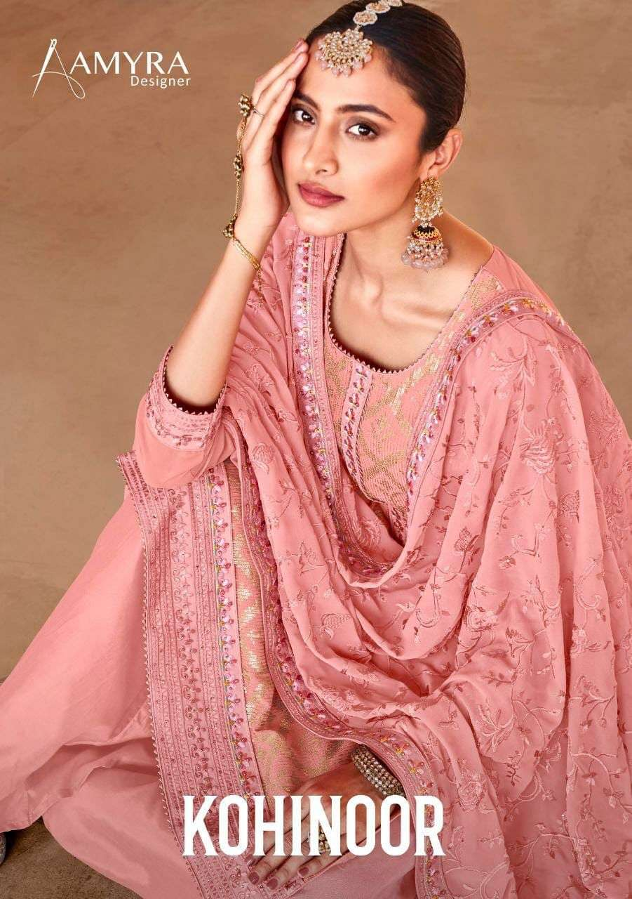 Amyra Kohinoor Georgette Party Wear Designer Suit