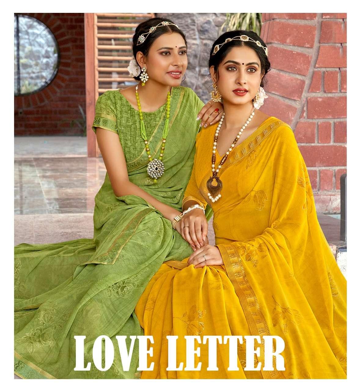 Antra Love Letter Vol 1 Georgette Printed Saree