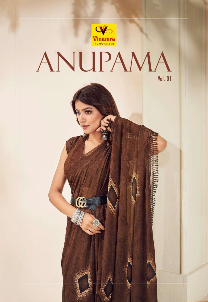 Anupama Vol 1 By Vinamra Georgette Saree Exports