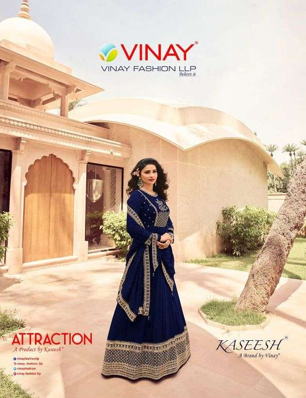Attraction By Vinay Georgette Anarkali Party Wear Long Suits
