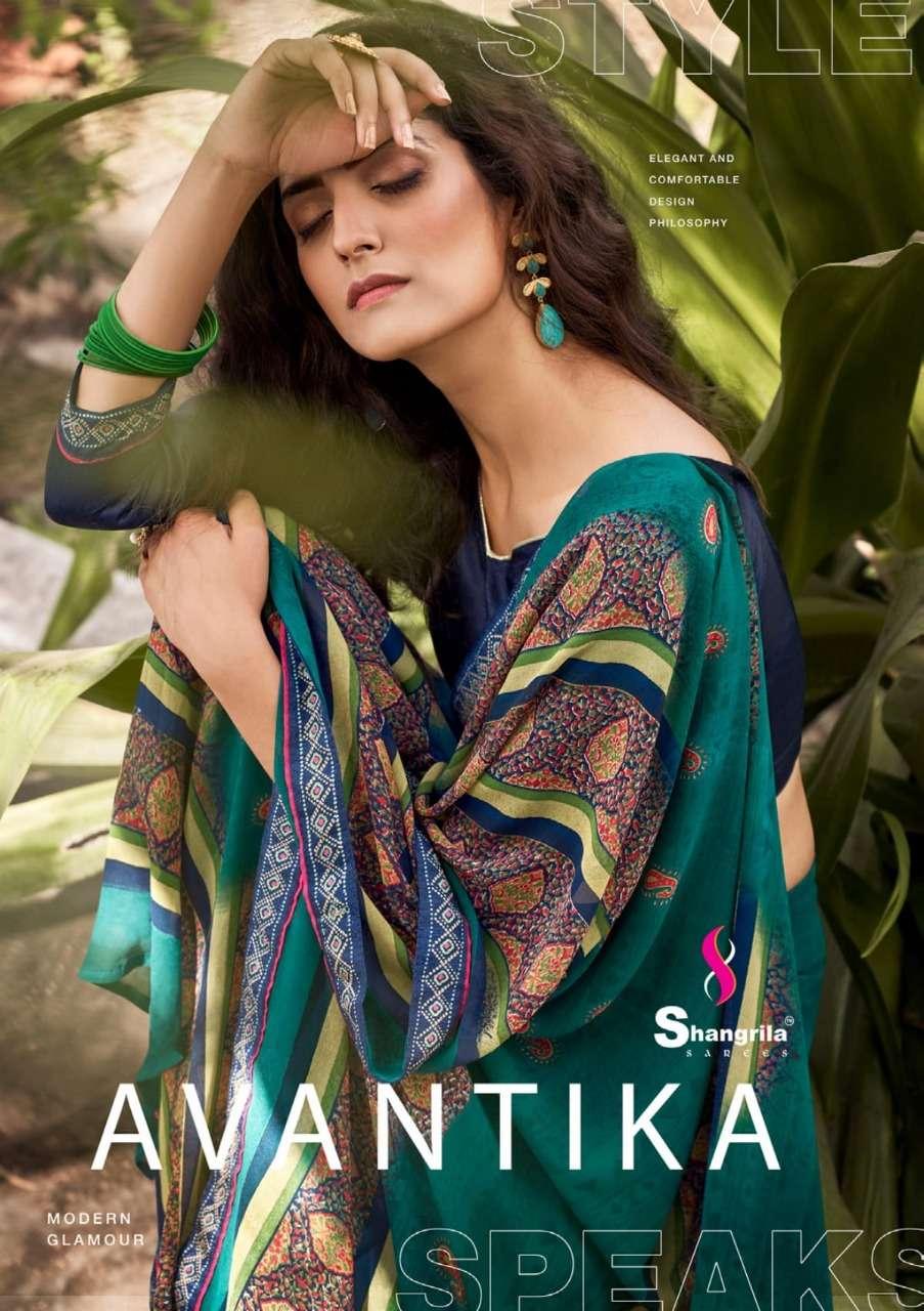 Avantika Rich Designer Georgette Sarees By Shangrila