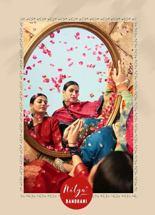 Bandhani By Lt Nitya Exclusive Fancy Kurti With Silk Dupatta