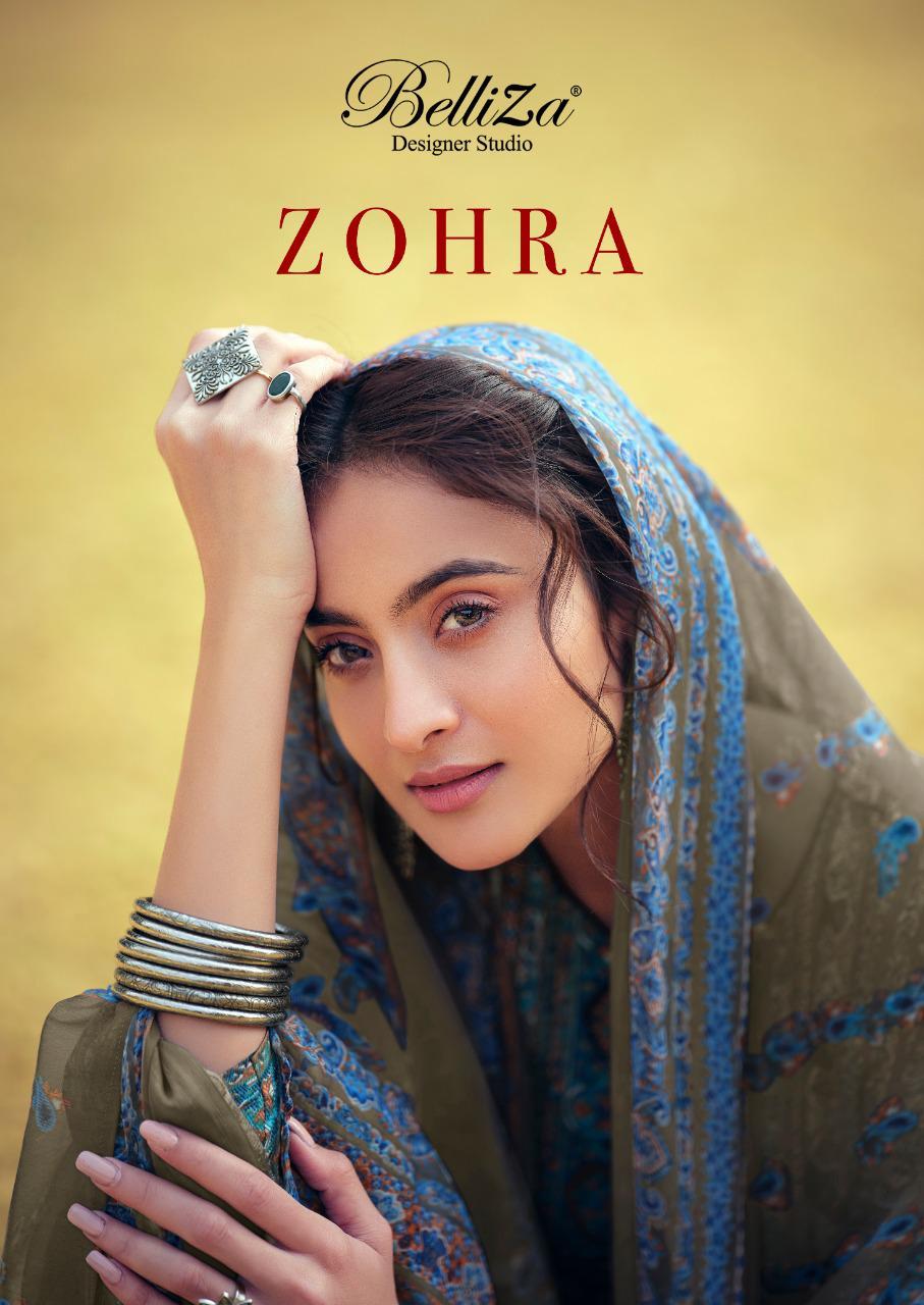 Belliza Designer Studio Zohra Pure Cotton Digital Print Casual Wear Dress Materials