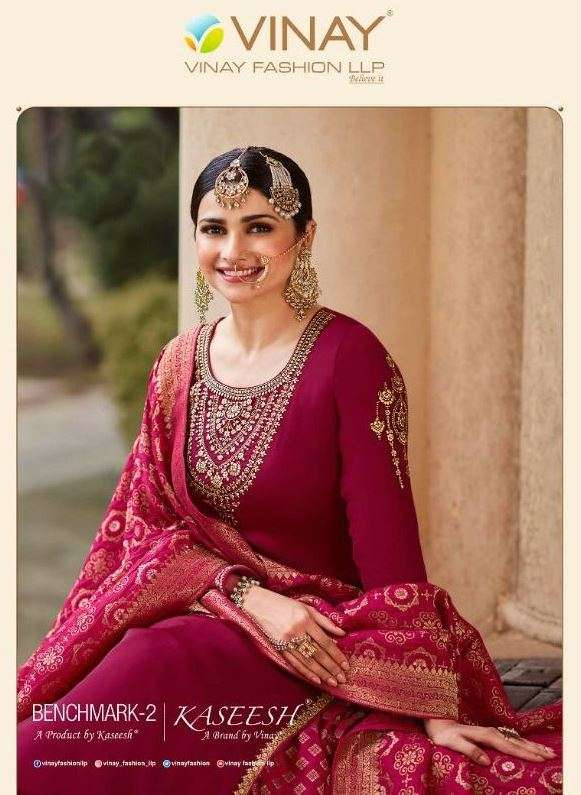 Benchmark Vol 2 By Vinay Fashion Barfi Silk Jacquard Charming Look Salwar Kameez