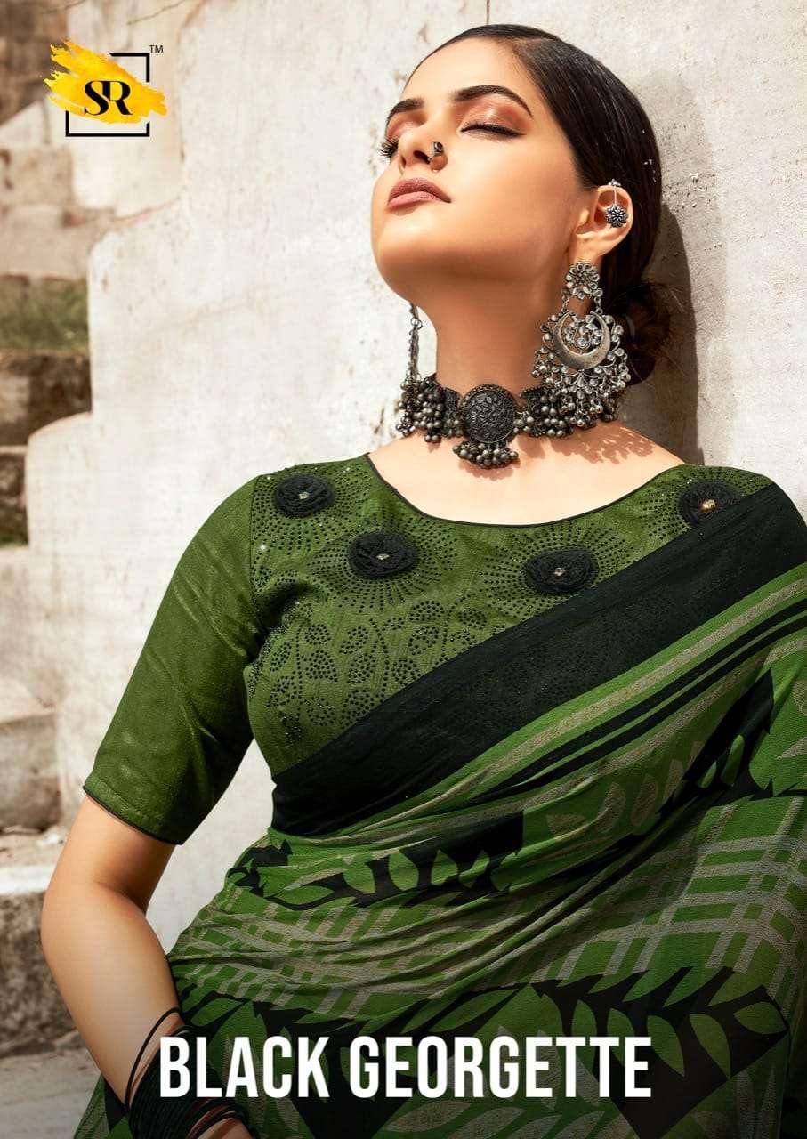 Black Georgette By Sr Brand Fancy Saris Dealer