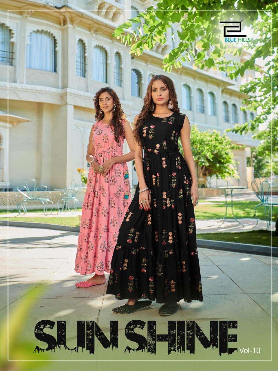 Blue Hills Sunshine Vol 10 Rayon Big Sizes Long Gowns