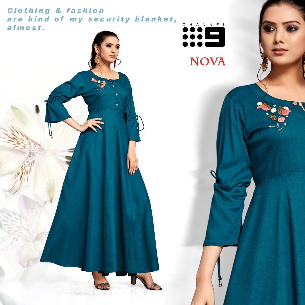 Channel 9 Presents Nova Flair Style Long Gown Collection At Best Rate Online