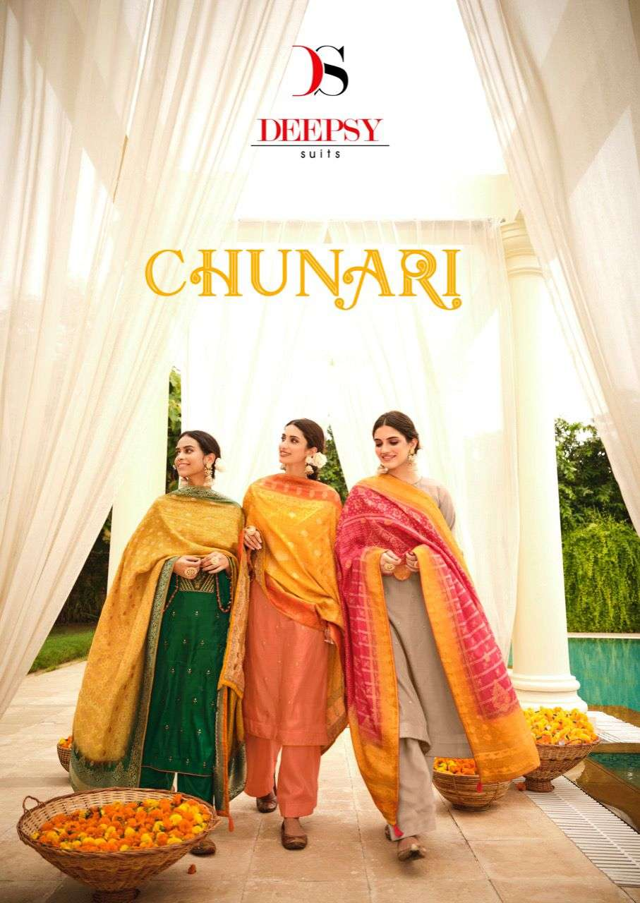 Chunari By Deepsy Tussar Silk Exclusive Fancy Suits