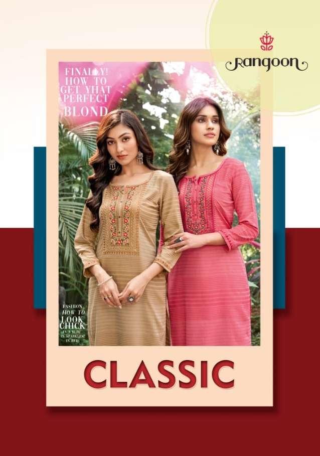 Classic By Rangoon Lining Cotton Daily Wear Kurti