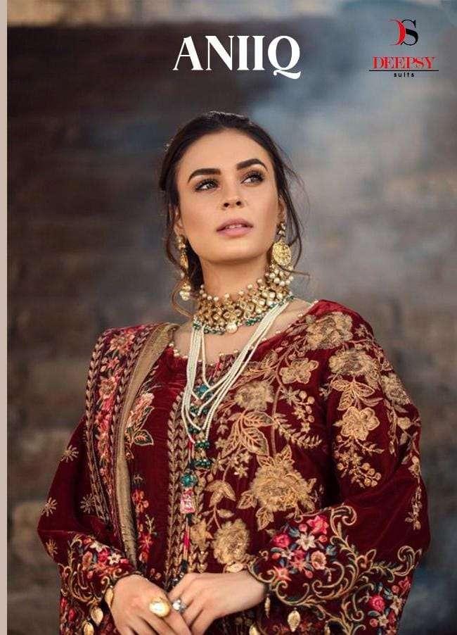Deepsy Aniq Velvet Winter Wear Pakistani Designer Suits