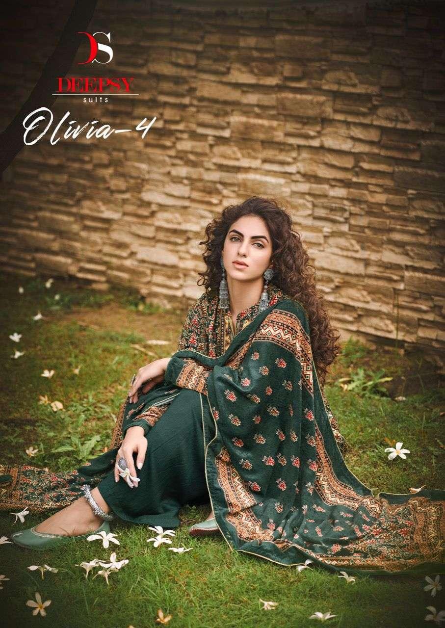 Deepsy Olivia Vol 4 Velvet Digital Printed Winter Dress Materials