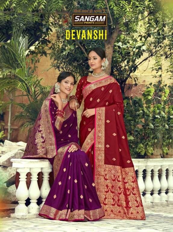 Devanshi By Sangam Designer Banarasi Silk Sari Supplier