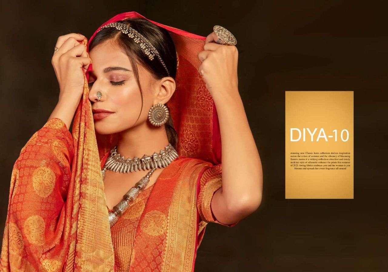 Diya Vol 10 By 5d Jacquard Fancy Sarees